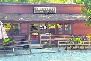 Campers Cove campground on the north shore of Lake Erie, Wheatley Ontario with 1200 feet of sandy beach