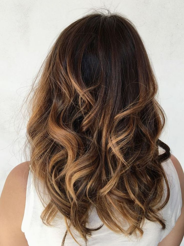 Les 25 meilleures id es de la cat gorie balayage miel sur pinterest teinture pour cheveux brun - Brune balayage miel ...