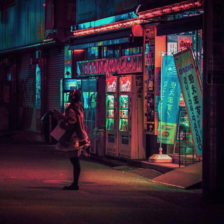 Hermosas fotografías nocturnas de Tokio que claroscuro de la noche y el neón.