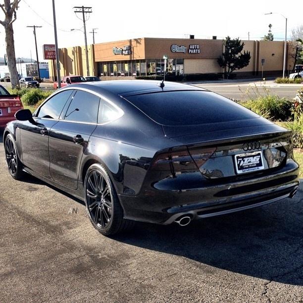 Audi A7. #BlackOnBlack