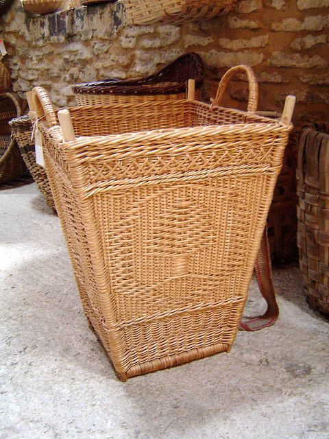 basket collection of Maurice Bichard, photo by Joan Carrigan