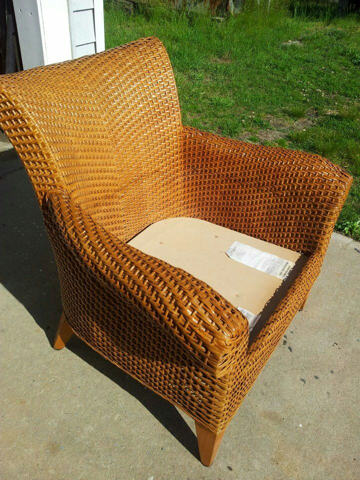 Ethan Allen Armchair Before Being Rd Caning Rush Wicker Pinterest