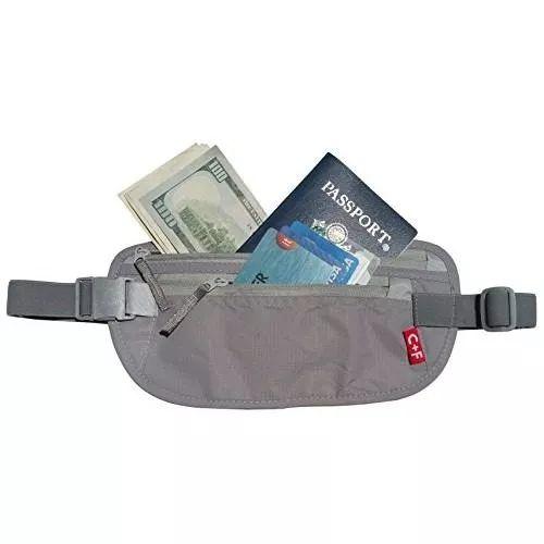 riñonera cf viaje monedero cinturón rfid seguridad de bolsi