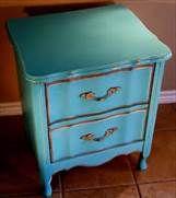 Distressed Turquoise Furniture.