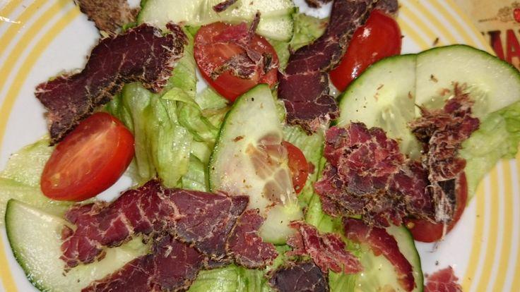 Lean biltong salad