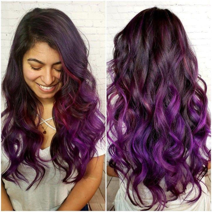 37++ Dark brown hair with purple streaks inspirations