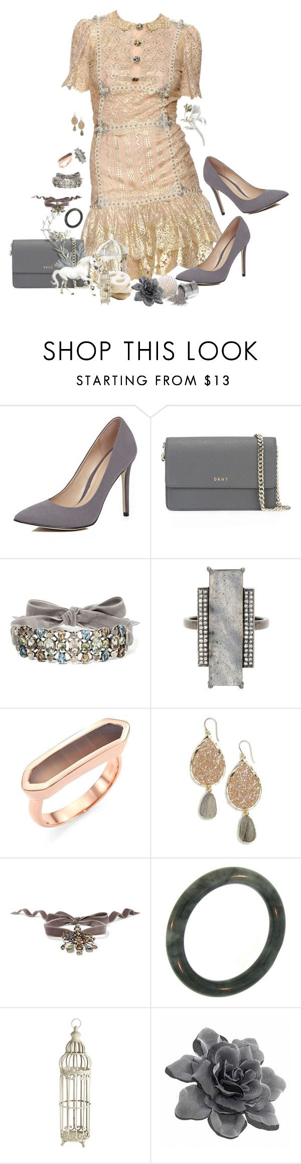 """Untitled #1592"" by patsypatsy ❤ liked on Polyvore featuring Angelo Marani, River Island, DKNY, Lanvin, ADORNIA, Monica Vinader, Panacea, Pier 1 Imports and MAC Cosmetics"