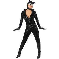 Luce tipazo mientras sacas tu lado felino y salvaje con este espectacular y oficial disfraz de Catwoman.