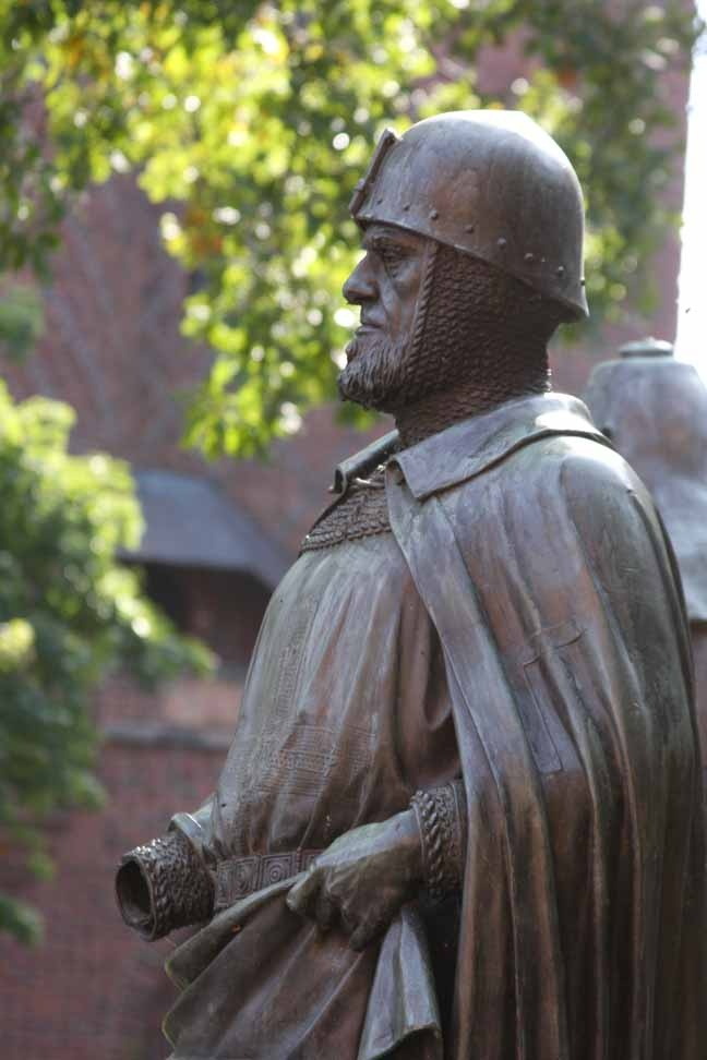 Statue of a knight of the Teutonic Order - Malbork Castle photo by Morgan Thomas