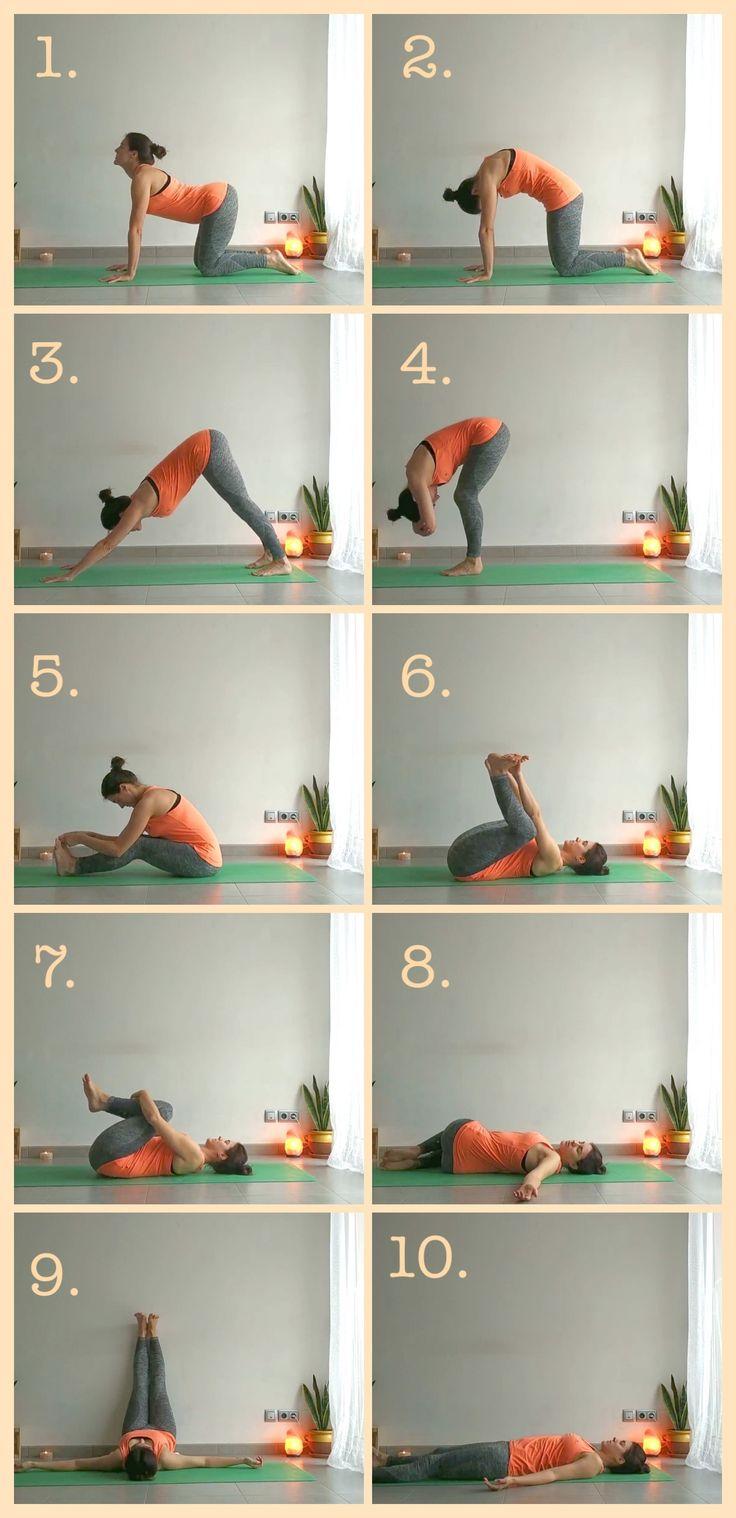 Alivia el dolor de espalda producido por malas posturas o pasar largas jornadas en la misma posición 💜 Yoga Gym, My Yoga, Yoga Fitness, Yoga Mantras, Yoga Meditation, Yoga Flow, Yoga Tattoos, Relaxing Yoga, Yoga For Flexibility
