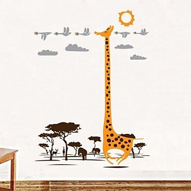 stickers muraux stickers muraux, afrique maison de girafe décor de mur de crèche de PVC autocollants – CAD $ 10.05