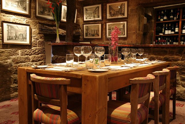 Enjoy a glass of wine with family and friends in the Malt Vault at The Devonshire Arms at Beeley, Derbyshire
