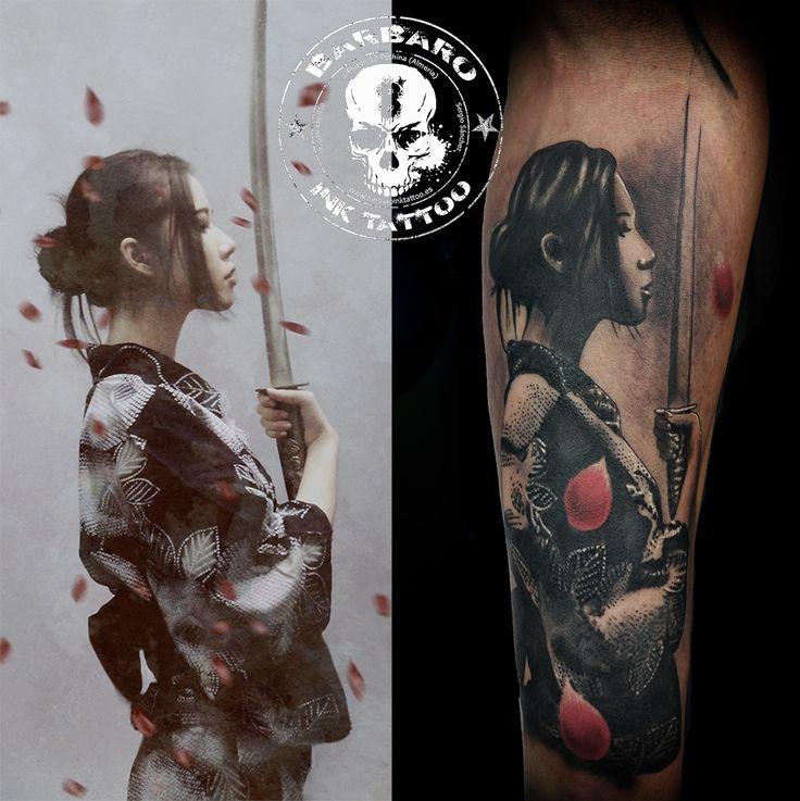 #tattoo #tattooalmeria #blackandgraytatttoo #realistictattoo #japanesetattoo #geishatattoo #katanatattoo #tattooed #tattoospain #andalucia #tattoojapones #japantattoo #blackandgray