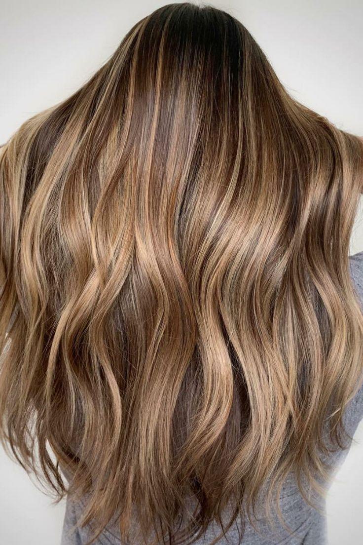 Haare dunkelblonde Braun Satin