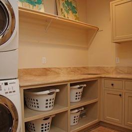Laundry Basket organizer shelves