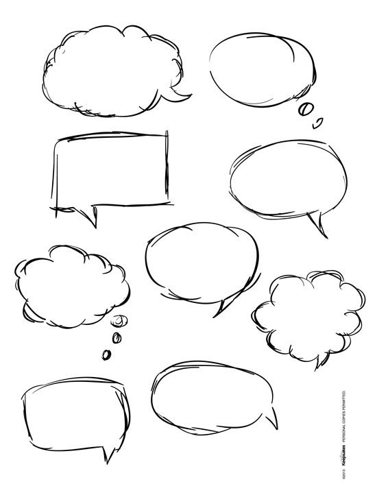 What are your characters trying to say? Speech bubble doodle