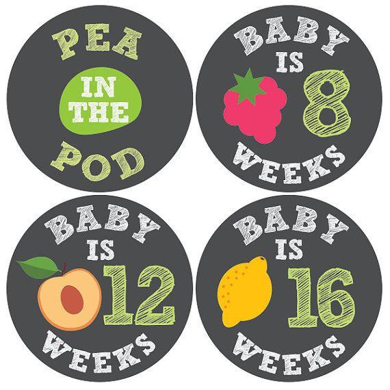 Autocollants de grossesse, la maternité autocollants, semaine après semaine, ventre autocollants, ventre bosse Sticker, Stickers hebdomadaire de grossesse