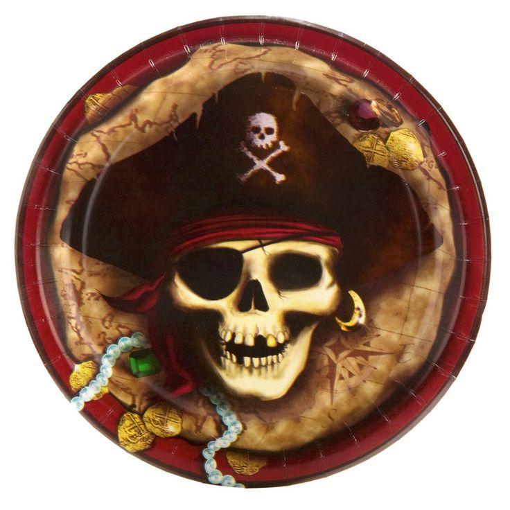 Pirates Dinner Plates from BirthdayExpress.com