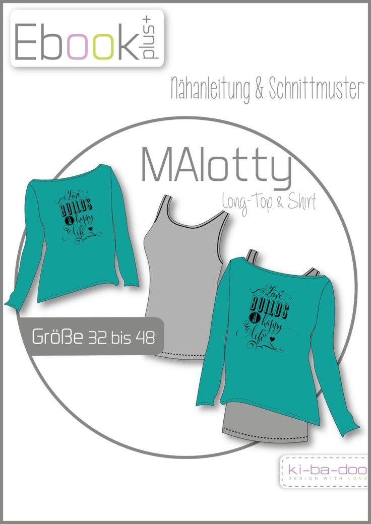 Ebook plus Doppel-Shirt MAlotty - Schnittmuster und Anleitung als PDF, versandkostenfrei
