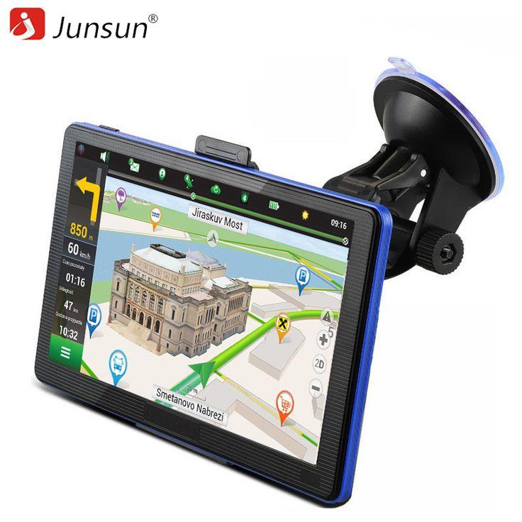 Junsun 7 Inch Car GPS Capacitive Navigation FM MP3/MP4 Players Truck Gps Navigator Detailed Maps Navitel/Europe Free Updates