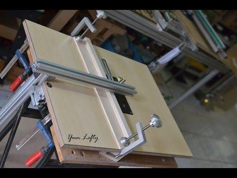DIY งานไม้ BY Yun Lefty =สร้างโต๊ะเลื่อยจิ๊กซอว์=(build a jig saw table) - YouTube