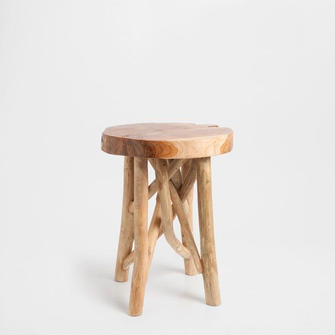 TEAK STOOL - Occasional Furniture | Zara Home United States of America