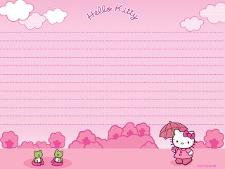 Cute Hello Kitty free printable letter paper stationery