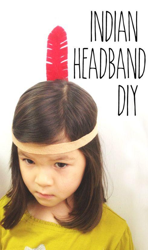 an easy indian headband DIY