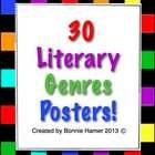 Use these colorful posters to brighten up your classroom, and also teach students about lots of literary genres!  Print them out, laminate, and you...