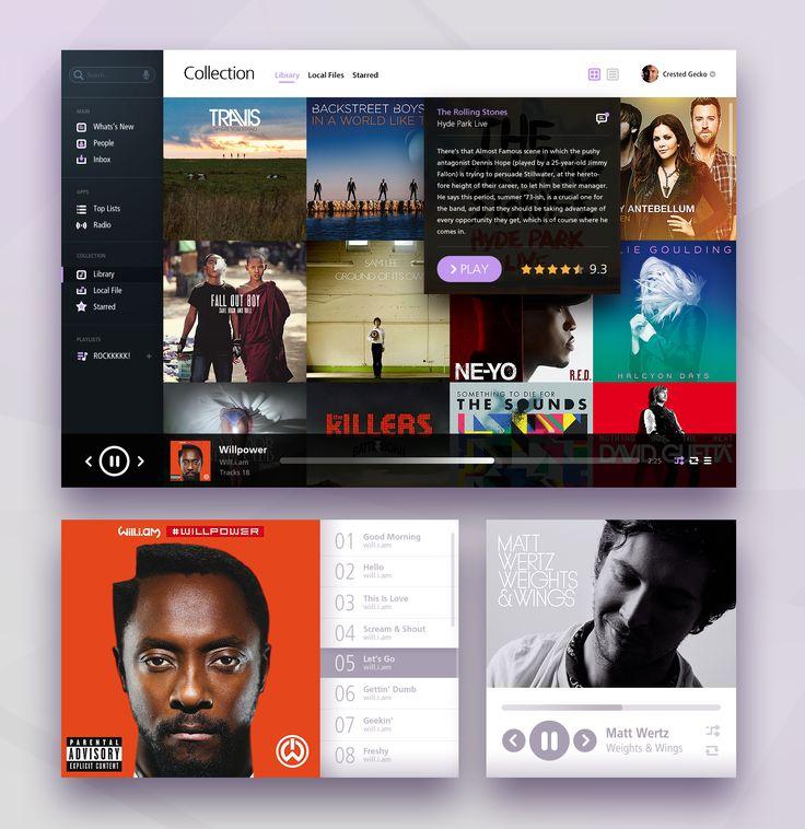 Music web UI