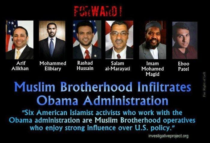 Muslim Brotherhood's infiltration of U.S. government is deep, thanks to Barack Hussein Obama, the Muslim-In-Chief in the White House. Description from wn.com. I searched for this on bing.com/images