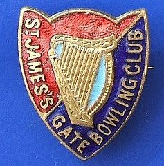 Bowling Club badge - Dublin, St James's Gate (Guinness)