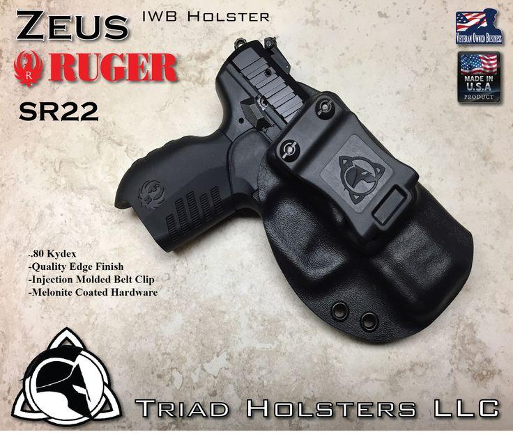 Triad Holsters LLC - Kydex Holster Ruger SR22 IWB Inside the Waistband, $47.99 (http://www.triadholsters.com/kydex-holster-ruger-sr22-iwb-inside-the-waistband/)