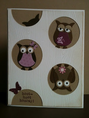 hoot hoot hooray!Owls Cards, Owls Crazy, Owls Obession, Owls Punch, Owl Card, Owls Owls, Cards Owls, Owls 3, Mom Owls