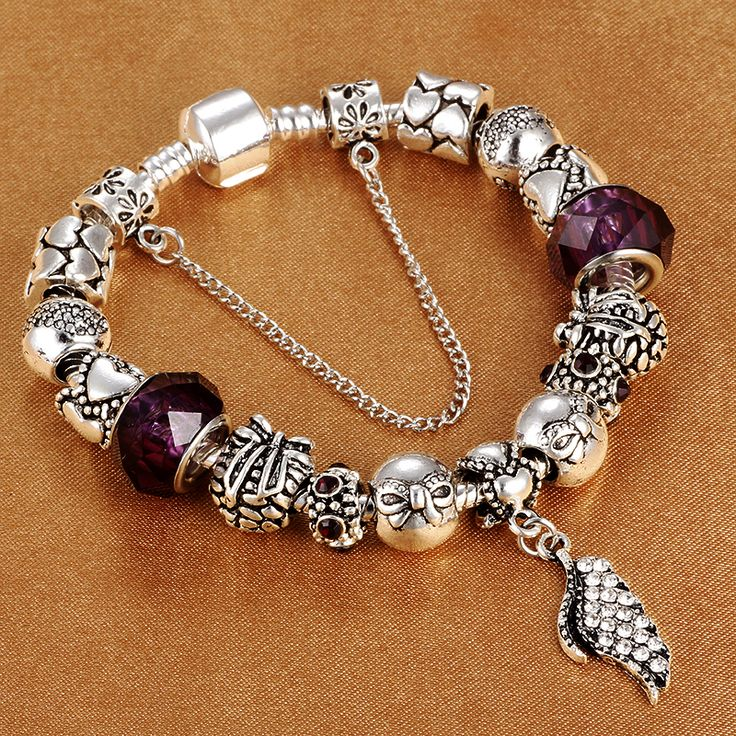 HOMOD 2017 Fashion Women Jewelry Antique Elegant European Charm Bracelet Bead fit Brand Bracelets For Girl