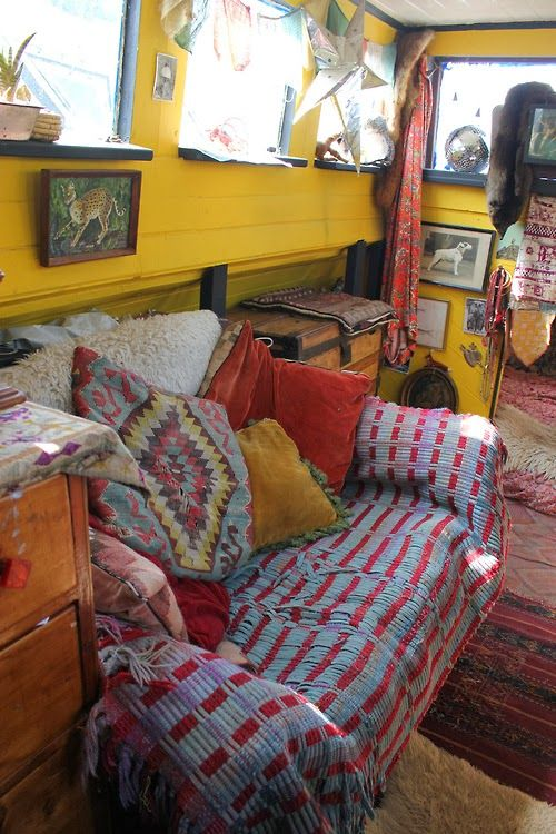The Houseboat of illustrator Tabby Booth..