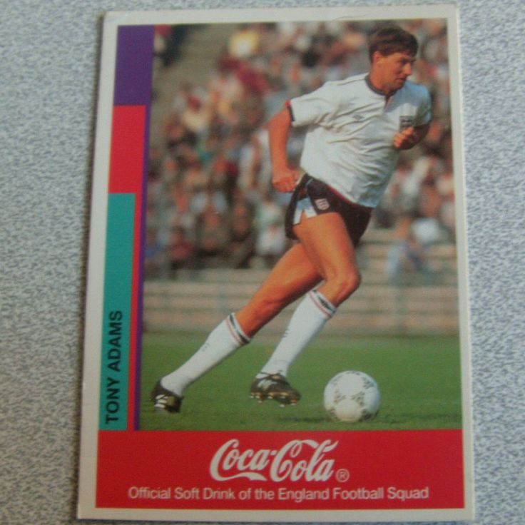 ITEM A retro Tony Adams England trading card these were promotional cards you got when you bought multipacks of coke and could win tickets to Wembley