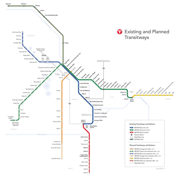 Plan du métro de Minnesota grande résolution