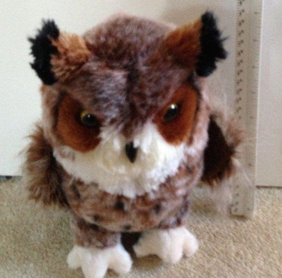 Stuffed Owl Owl plus Owlet Plush Owls Owl by oodlesofrandomstuff