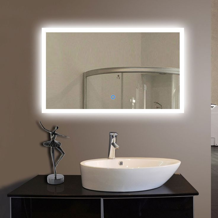 40 x 24 In Horizontal LED Bathroom Silvered Mirror with Touch Button (DK-OD-CK010-G)