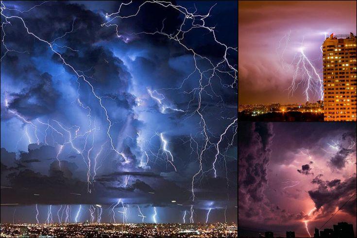 Москву растерзала ночная гроза невероятной красоты и силы