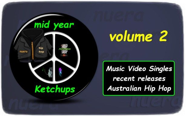 Mid Year Ketchups  Volume 2 (music video singles)  Australian Hip Hop  21 music video singles (April -to July 2015)  GLOX  Birdy Dont Hurt Me 2:17 Soul Elixr  Rocksteady (ft: Full Tote Odds & DJ Snair) 4:36 U.D (ft: EMRE2k  My Moment) 3:50 P.Smurf  N.T. (Q-Tip & Busta Rhymes  Live Remix) 3:30 Tom Kwan  Make Believe 3:03 Dirturtles  World War Four 4:08 Hails  Hollow 2:17 Manny J- Summertime Jam 2:45 Kerser  I Dont Know If You Know 3:44 Asta  Dynamite (ft: Allday) 3:59 Verske  Slap em 3:41…