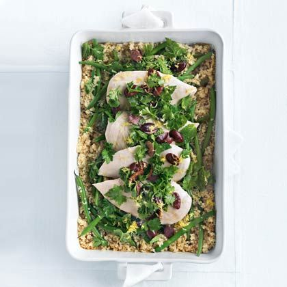 Quinoa Roasted Chicken with Olive Gremolata - Health.com