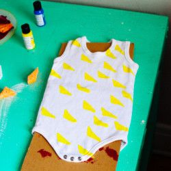 Painted Baby Onesies – DIY (w/ recs for paint and bulk onesies)