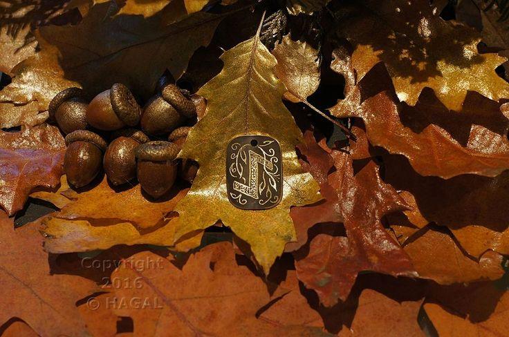 Eihwaz  Rune Amulet Pendant Handmade Brass Wicca Pagan Viking Druid