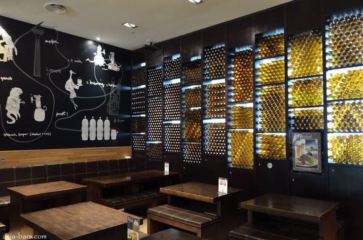 Backlit Empty Beer Bottles Brotzeit Kl016 Interiors
