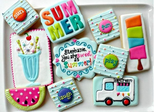 My favorite Summer cookies by  http://thebearfootbaker.com/2012/08/savor-summer/ Ice cream treats