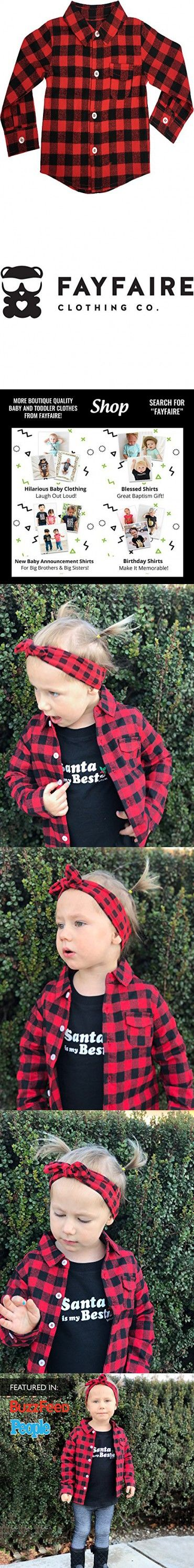 Baby Flannel Shirt by Fayfaire Boutique | Adorable Red Buffalo Plaid 12M