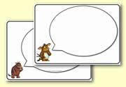 The Gruffalo's Child  - Writing area speech bubbles.