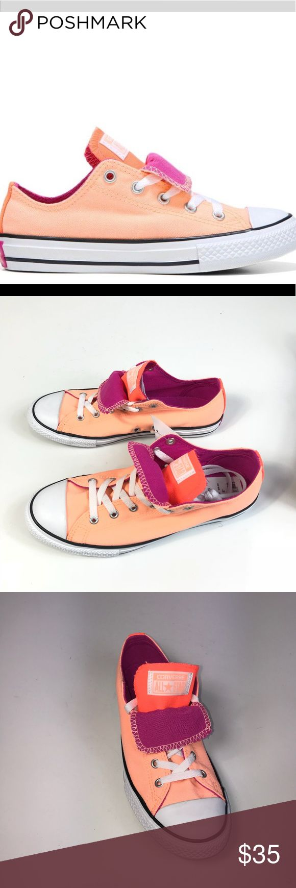 Converse Double Tongue CT Sneaker NWT Half Box Item has never been worn Sunset Glow/ Hyper Orange ❌🚭🐶🐱 ❌ no holes, tears or damage to the item Converse Shoes Athletic Shoes